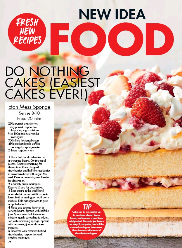 New Idea Food Do Nothing Cakes Easiest Cakes Ever Pressreader