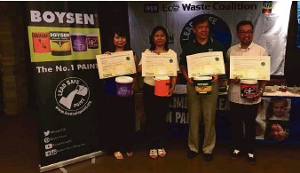 Boysen Receives Lead Safe Paint Certification Pacific Philippines Inc Vice President Johnson D Ongking Third From Left Is Flanked By