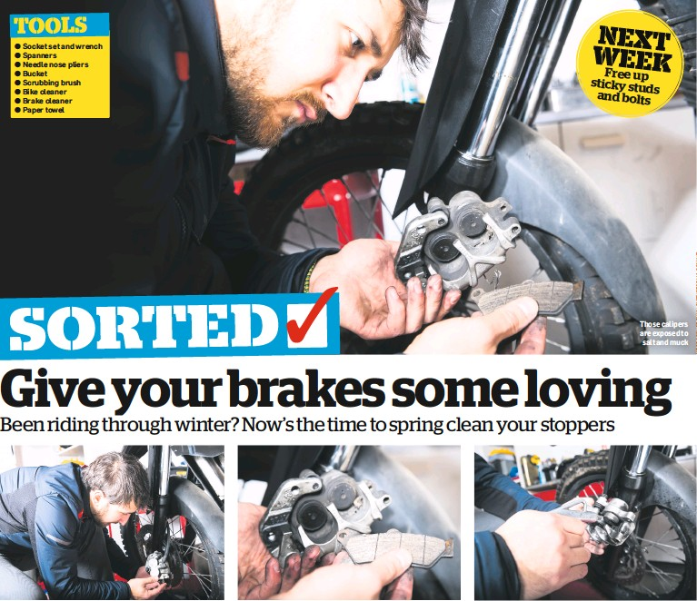 Gently Squeeze The Brake P Against Pistons Eg Away From Disc By Gripping Them With Water Pump Pliers Caliper Then Remove