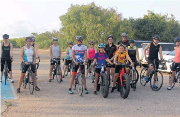 Pictures  Carly Laden. Triathlete Dimity-Lee Duke with Broome Tri Club  members. 68c9681a0