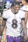 ??  ?? READY TO GO: Ravens QB Lamar Jackson.