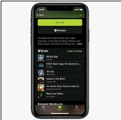??  ?? With an Apple Music subscription, you can access the music playlists used during workouts.