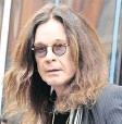 ?? FOTO: PA/DPA ?? Ozzy Osbourne