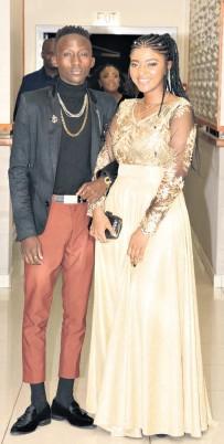 ??  ?? Banele Dube and Mia Mzimela looked stunning together on the evening