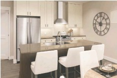 ?? SPRING CREEK ?? Spring Creek condos will feature gourmet kitchens.