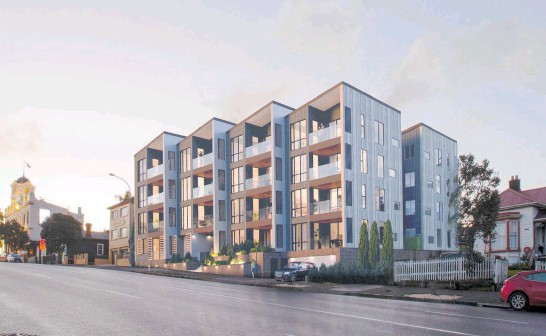 ??  ?? The property at 99 College Hill offers buyers the chance to build a high- end residential development in a high- demand location.