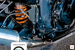 ??  ?? 4 Leverage ratio for 4 Öhlins rear unit and Fireblade swingarm was a tough one – but it was right first time