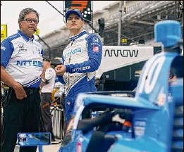?? Darron Cummings / Associated Press ?? Alex Palou, right, led the Indycar title race by 42 points two weeks ago. Now he trails Pato O'ward by 10 points with three races left.