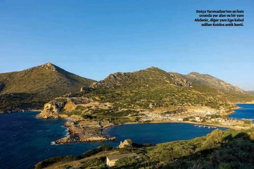 ??  ?? Datça Yarımadası'nın en batı ucunda yer alan ve bir yanı Akdeniz, diğer yanı Ege kabul edilen Knidos antik kenti.