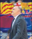 ?? FOTO: EFE ?? Pablo Laso, el martes en el Palau