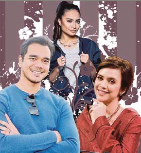 ?? FILE PIX ?? Celebs in ntv7's new line-up of shows include (from left) Alif Satar, Kilafairy and Datin Diana Danielle.