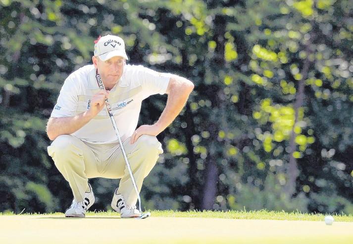 ??  ?? Jim Furyk a réalisé la meilleure ronde de l'histoire de la PGA hier, au Championnat Travelers.