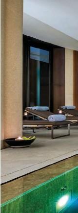 ??  ?? La Spa del Bulgari Hotels & Resorts di Milano, in via Fratelli Gabba, ospita un Gentlemen's Studio con percorsi su misura per l'uomo: nel menu, trattamenti per il viso e per il corpo firmati Sothys e La Mer.