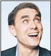 ?? SUBMITTED PHOTO ?? British Atlantic-canadian comedian James Mullinger is performing at the CLB Armoury in St. John's tonight.