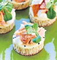 ??  ?? A perfect summer feast of champagne, strawberries and cream plus smoked salmon