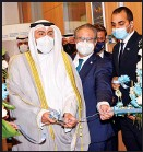?? KUNA photo ?? Health Minister Sheikh Dr Basel Al-Sabah during the ceremony to inaugurate the WHO Headquarters.