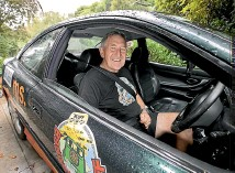 ?? ANDY JACKSON/STUFF ?? Graham Walker is set to arrive in Bluff today for the Bangers to Bluff rally to raise money for Multiple Sclerosis New Zealand.