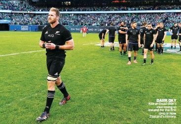 ??  ?? DARK DAY Kieran Read didn't love losing to Ireland for the first time in New Zealand's history.