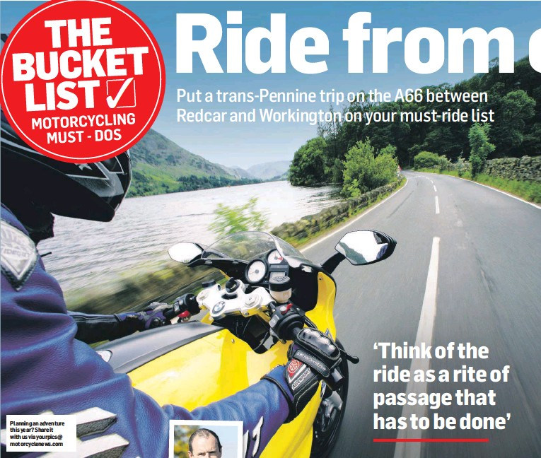 ??  ?? Planning an adventure this year? Share it with us via yourpics@ motorcyclenews.com