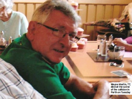 ??  ?? Wayne Martin, 77, died at the scene of the collision in Porth on Tuesday