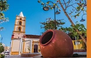??  ?? Escultura de Martha Jiménez en Hotel Santa María, ciudad de Camagüey.