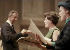 ??  ?? Triumphant trio: (left to right) Britten, Harper and Josephine Veasey, c.1963