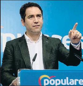 ?? PEDRO PUENTE HOYOS / EFE ?? El número dos del PP, Teodoro García Egea, ayer en Santander