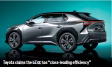 """??  ?? Toyota claims the BZ4X has """"class-leading efficiency"""""""