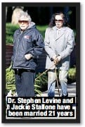 ??  ?? Dr. Stephen Levine and Jackie Stallone have been married 21 years