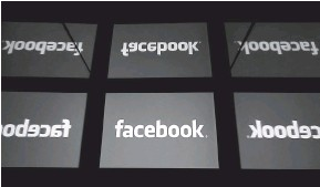 ?? — Gambar AFP ?? LOGO: Logo Facebook yang dipamerkan di Paris pada 17 Februari, 2019.
