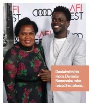 ??  ?? Daniel with his mom, Damalie Namusoke, who raised him alone.