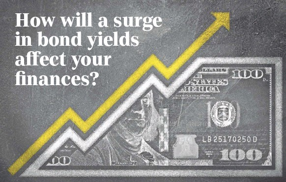 ?? GETTY IMAGES ?? Rising Treasury bond yields can be sign of increased optimism yet they also can signal that inflation is looming.