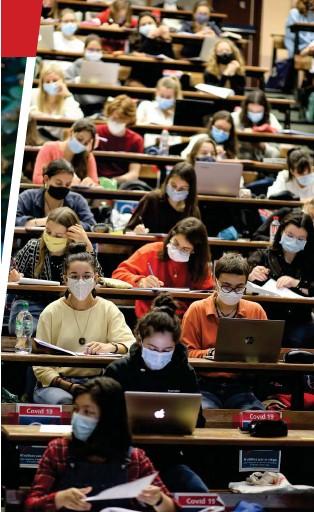 ??  ?? 8 À 9 MILLIONS, prélevés sur leurs propres deniers, c'est ce que les universités ont investi en moyenne depuis le mois de mars pour mettre en place les mesures nécessaires à la poursuite de leur mission. Au point pour certaines de se mettre en danger, et sans que le ministère réagisse. Ici, le 24 septembre, à la fac de médecine de Nantes.