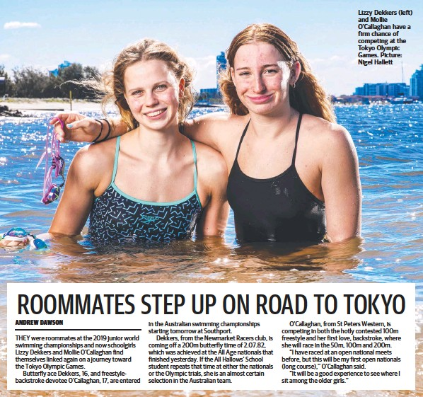 ?? Picture: Nigel Hallett ?? Lizzy Dekkers (left) and Mollie O'Callaghan have a firm chance of competing at the Tokyo Olympic Games.