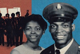"""??  ?? Melvin McNair met his wife, Jean, before he was drafted. They joined the fight for civil rights. """"She was the brains, I was the brawn,"""" he says."""
