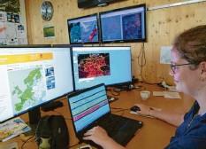 ?? Fotos (2): Michael Munkler ?? Meteorologin Linda Fyzer hatte Nachtdienst, als gut zwei Tage vor der Flut alle Daten auf ein bevorstehendes Extrem‰Ereignis hinwiesen.