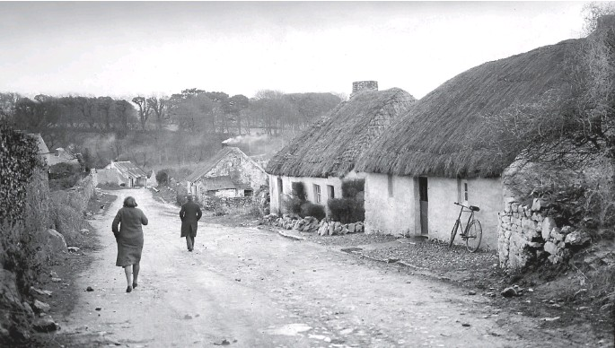 ??  ?? The theme of happiness despite the difficult economic conditions is threaded through the recollections. Above: Clash, Little Island, Co Cork, in March 1930.