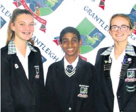 ??  ?? Proud to have been selected for the KZN Coastals teams are Kelly Braithwaite (U14B), Mas'ud Cassim (U14C) and Tasmin Anderson (U18B team)