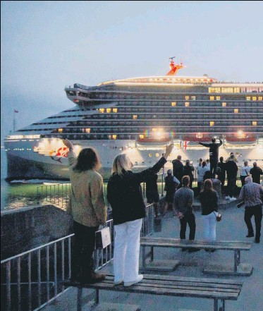 ??  ?? USA-BOUND Scarlet Lady's owner Virgin Voyages praised the city's 'incredible history' ahead