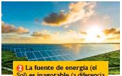 ??  ?? La fuente de energía (el Sol) es inagotable (a diferencia de los combustibles fósiles).