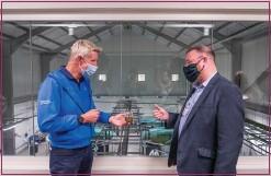 ??  ?? David Duguid toured Scottish Sea Farms to see its green facilities