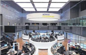 ?? FOTO: OH ?? Handelssaal der Deutschen Börse in Frankfurt: Bankanalysten trauen dem Dax im kommenden Jahr einiges zu.