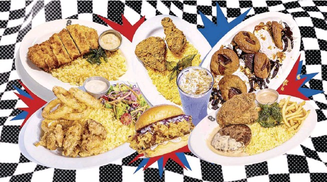 ?? Art by NEAL P. CORPUS ?? 8Cuts' new menu adds some gut-filling rice meals with fried chicken and pork chop, and desserts incorporated from its sister restaurants.