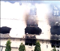 ??  ?? Raging fire on Ebeano Supermarket, Abuja,.. yesterday