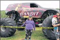 """?? BETH PENNEY/THE TELEGRAM ?? 10 year-old Abbie Fagan had one word to describe the monster truck Scarlet Bandit — """"Epic!"""""""