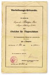 ??  ?? ■ An air gunner's qualification certificate.