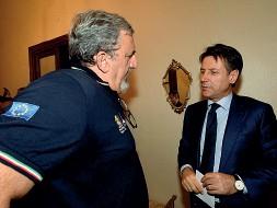 ??  ?? Michele Emiliano e Giuseppe Conte futuri alleati