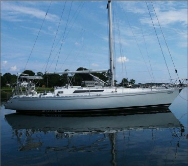 ??  ?? To my eye, the looks of the Germán Frers-designed 1983 Beneteau First 42 and the roominess below make it a worthy candidate for an electrical-system upgrade.