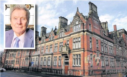 ??  ?? County Hall at Preston and (inset) leader of the Conservative administration, Geoff Driver