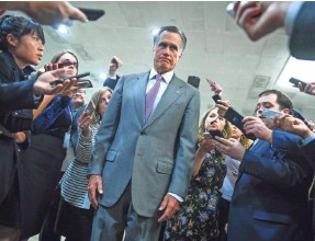 ?? JACK GRUBER/USA TODAY ?? Sen. Mitt Romney, R-Utah, enjoys stature as a former presidential nominee, favor in his state and a prominent presence on Capitol Hill.